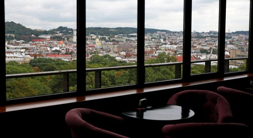 Panorama Bar in the Dniester Hotel in Lviv