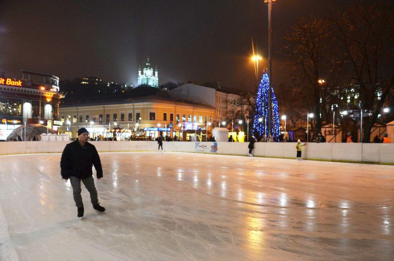Ice rink on Kontraktova Square