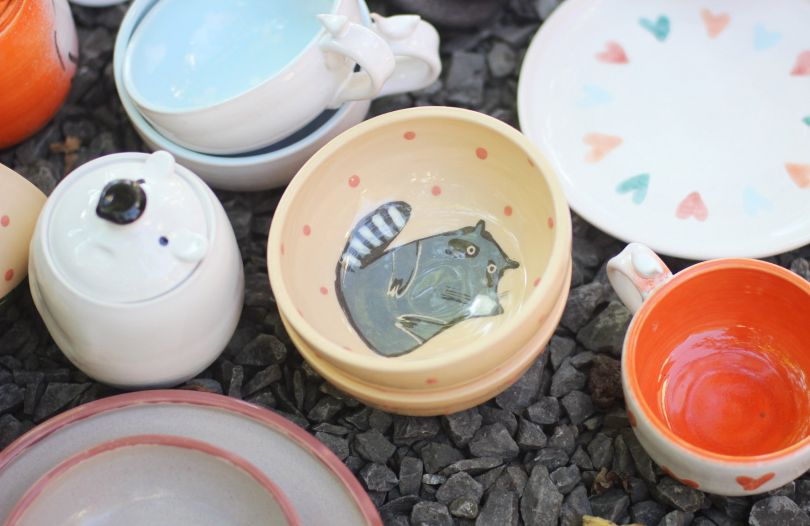 crockery with lovley paintings
