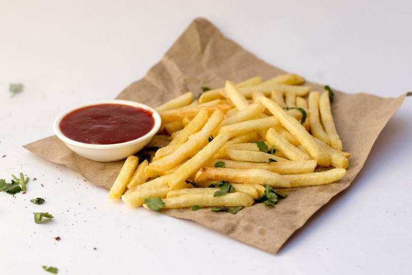 French fries with a sauce
