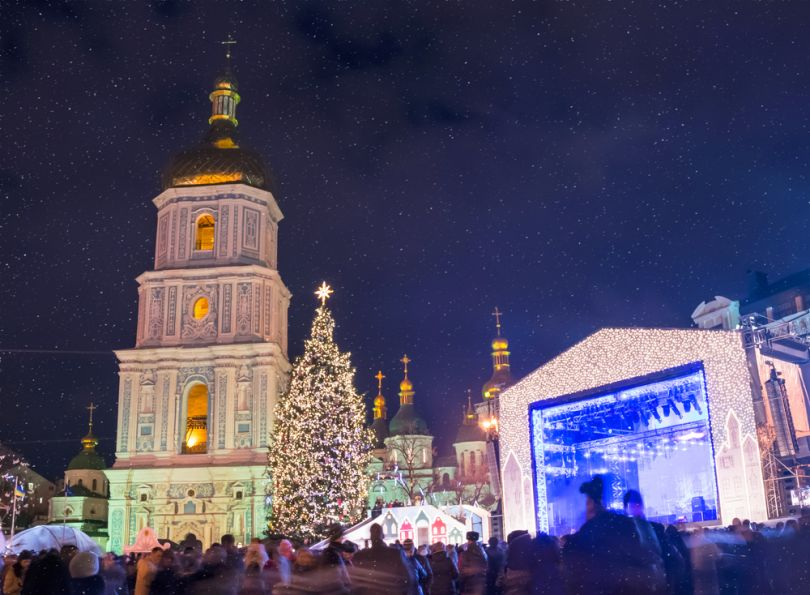 Christmas celebration in Kyiv