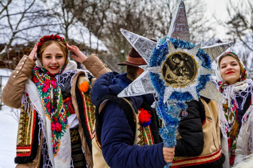 Ukrainian Christmas with Stars