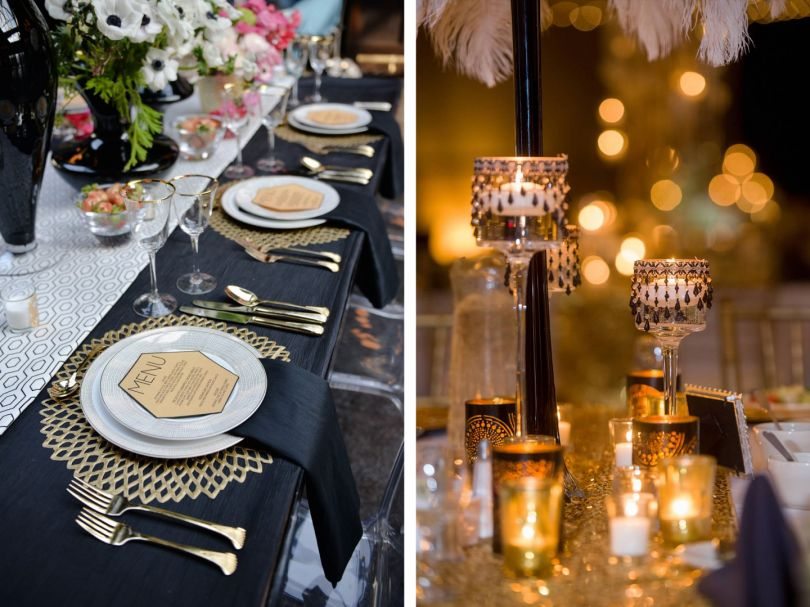 Retro New Year's Eve table decor