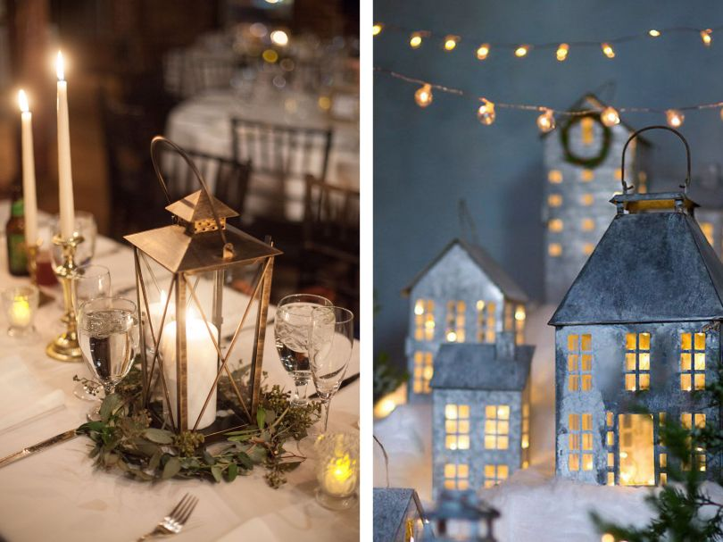Rustic New Year's Eve table decor