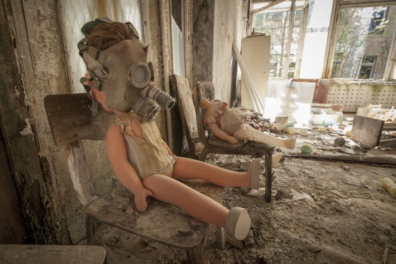 Abandoned doll in Chernobyl