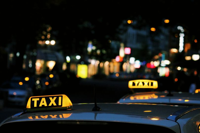 Neon taxi signs