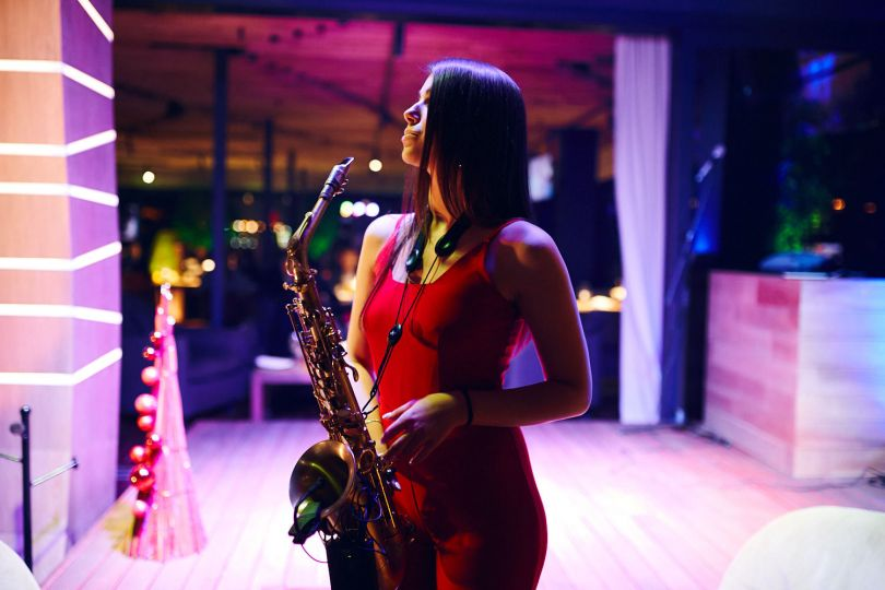 Girl with a sax