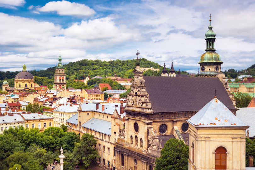 Beautiful old town Lviv