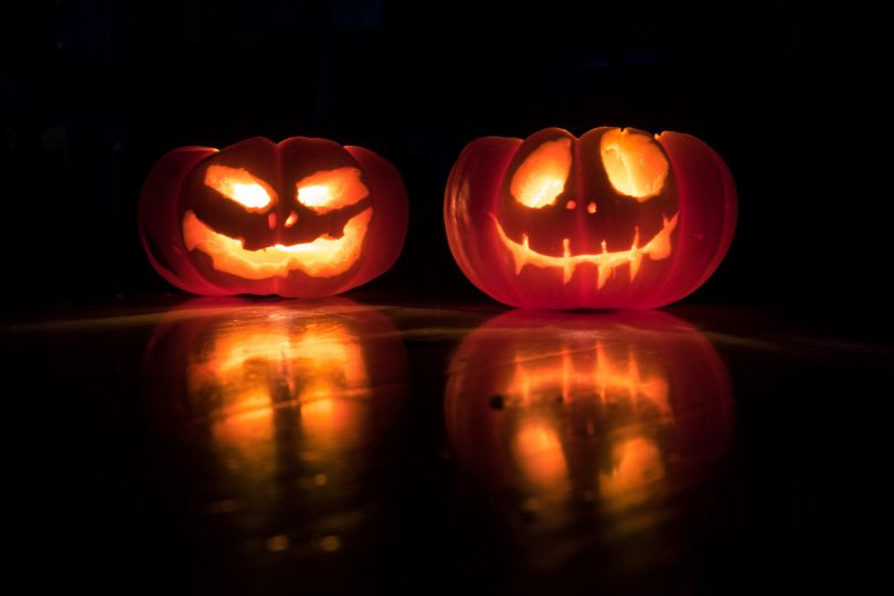 lighted halloween pumpkins