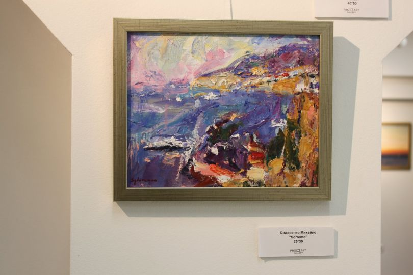 sea view painting in the gallery