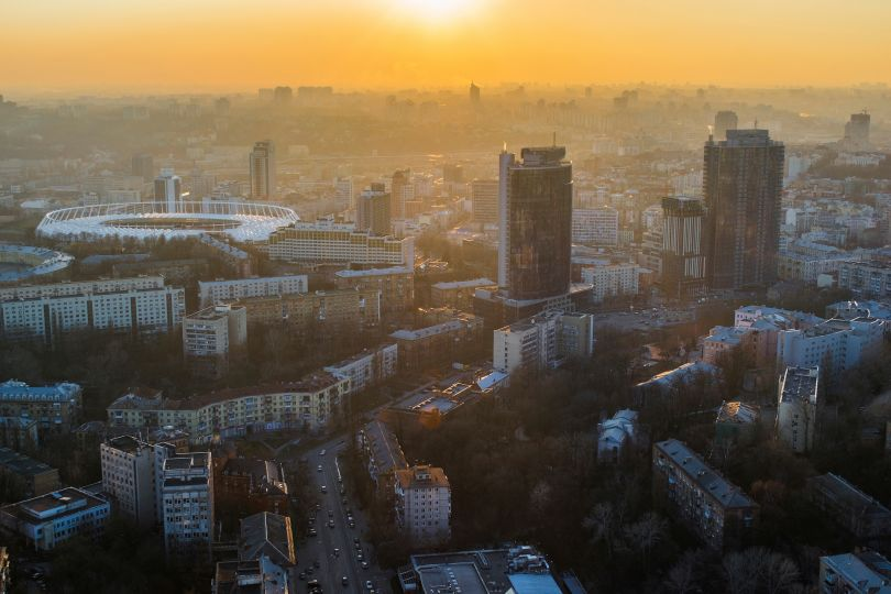 Business district in Kyiv