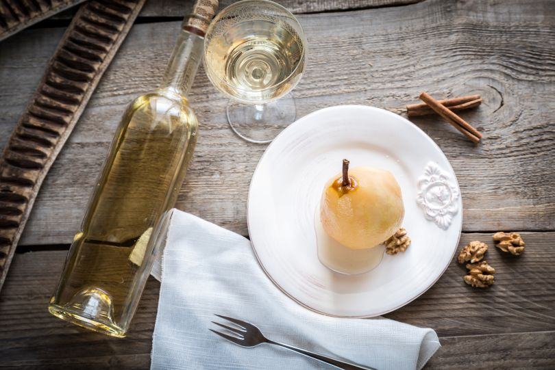 Dessert and white wine